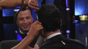 jimmy kimmel hair loss jennifer aniston cuts jimmy kimmel s hair daily mail online