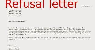 refusal letter bid proposal rejection letter 10 bid rejection