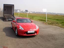 nissan 370z used india report u0026 pics nissan 370z launch in mumbai display in various