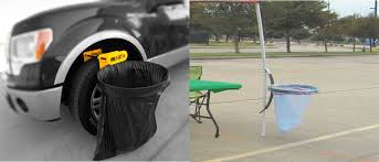 Canopy Trash Can by Camping Trash Holder Tailgating Trashcan The Garbage Bag