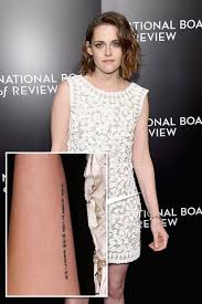 we can all relate to kristen stewart u0027s delicate new arm tattoo