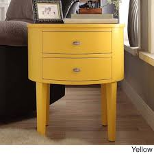 Yellow Accent Table Aldine 2 Drawer Oval Wood Accent Table By Inspire Q Bold Free