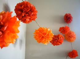 sale pompom garland orange mix marigold paper flowers