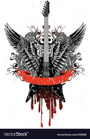guitar with wings royalty free vector image vectorstock