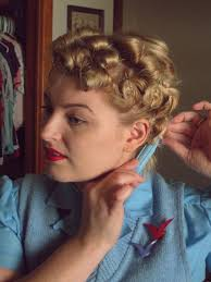 pin curl tutorial a marilyn pin curl set va voom vintage with
