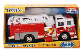 tonka fire rescue truck amazon com tonka light and sound fire engine toys u0026 games