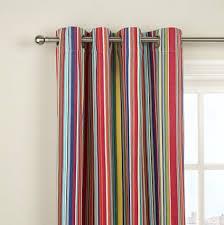 Multi Colored Curtains Multi Coloured Striped Curtains Eyelet Curtain Curtain Ideas