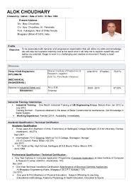 Sample Resume For Mechanical Engineer Fresher by Cv Resume Alok Choudhary Diploma Mechanical Engineering Fresher 2 U2026