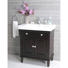 lacquer bathroom vanity chocolate brown mahogany wood standing