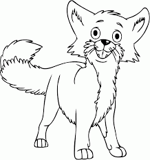 best baby fox coloring pages 92 7392