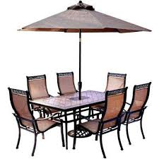 Outdoor Patio Dining Sets With Umbrella Aluminum Patio Dining Furniture Patio Furniture The Home Depot