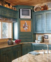 corner cabinet kitchen traditional with tv round baskets