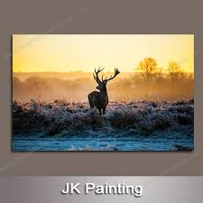 cheap animal deer artwork for home decor paintings without