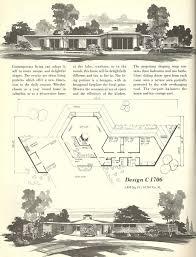 Mid Century Modern House Plan 220 Best Vintage House Plans 1960s Images On Pinterest Vintage