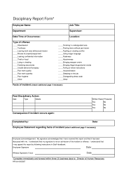 employee write up disciplinary report form free download