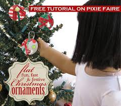 how to make flat festive ornaments for 18 inch