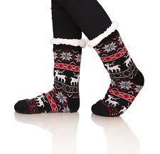 fuzzy christmas socks fleece christmas fuzzy socks for women ebay