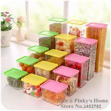 boite de rangement cuisine empilable boîte de rangement en plastique avec un couvercle en