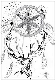 deer detante par valentin zen and anti stress coloring pages