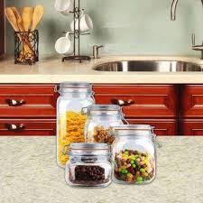 what to put in kitchen canisters kitchen canisters jars glass the home depot