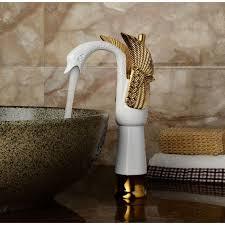 gold u0026 white bathroom sink faucet single hole single handle