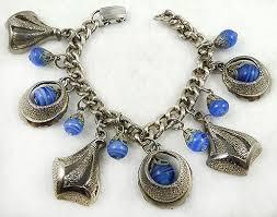 vintage charm bracelet necklace images Vintage charm bracelets garden party collection vintage jewelry jpg