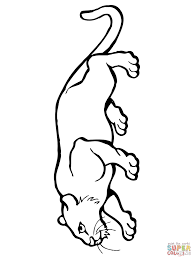 crouching cougar coloring page free printable coloring pages