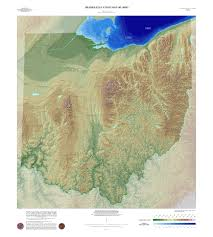 Erie County Map Map Of High Contrast Elevation Map Of Ohio Geography Pinterest Ohio