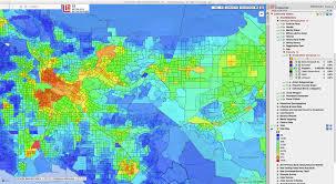 Map Of La Area La Choropleth Hispanic Heat Map Moonshadow