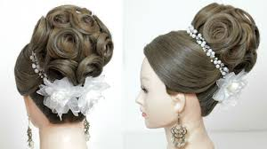 bridal hairstyle images indian bridal hairstyle tutorial wedding updo for long hair
