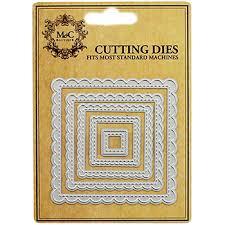 Cutting Dies For Card Making - scallop edge square metal cutting dies card making supplies at