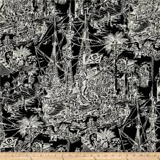 alexander henry nicole u0027s prints skelewags black white discount