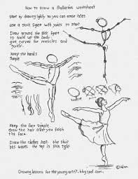 how to draw a ballerina printable worksheet see more at the blog