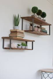 outstanding wall decor recycled wood and metal wall shelves ideas