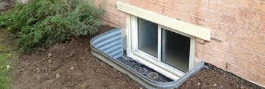 Basement Window Well Drainage by Basement Window Wells Drains Window Well Installation