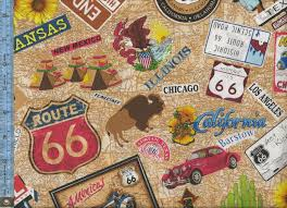 Route 66 Map Route 66 Street Signs Names Of States And Cities And Landmarks
