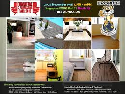 evorich promotes eco products at singapore furniture and