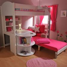 bunk beds for girls with desk modern pink kids bunk bed design for the little people