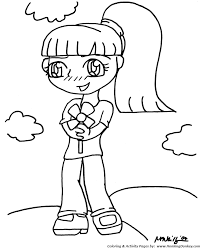 Anime Coloring Pages Flower Girl Anime Coloring Page And Kids H2o Coloring Pages