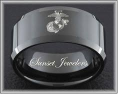 marine wedding rings stainless steel 10mm two tone us marine corps ring marine corps