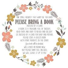 bring a book instead of a card poem instant baby shower invitation insert bring a book