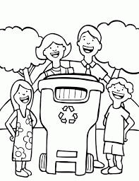 recycling coloring sheets coloring home
