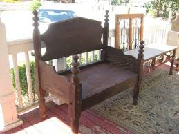 Bench Made From Bed Headboard 132 Best Bench U0027 U0027s Out Of Beds Images On Pinterest Furniture