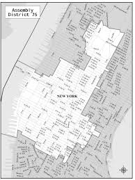 New York State Assembly District Map by 75th Assembly District Map Gottfried
