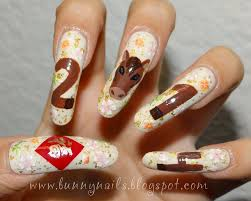 bunny nails 2 types of new year nail art for 2014