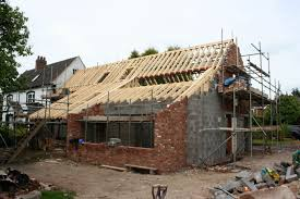barn conversion ideas contemporary barn conversion the roof rafters have been installed