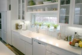 Kitchen Shelves Vs Cabinets Contemporary White Kitchen Cabinets Old Looking Granite