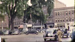 postman main street small town america usa vintage film retro home