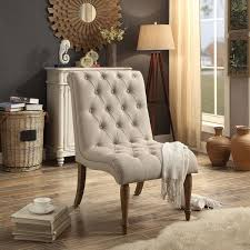 Tufted Accent Chair Iris Armless Collection Tufted Accent Chair Free Shipping Today