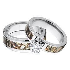 camo wedding rings his and s matching mossy oak duck blind camo wedding ring set